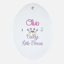 Olivia - Daddy's Princess Oval Ornament