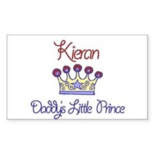 Kieran - Daddy's Prince Rectangle Decal