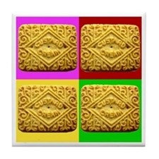 Custard Cream Tile Coaster