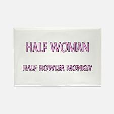 Half Woman Half Howler Monkey Rectangle Magnet