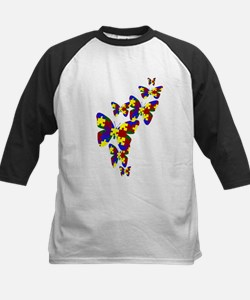 Burst of butterflies Kids Baseball Jersey