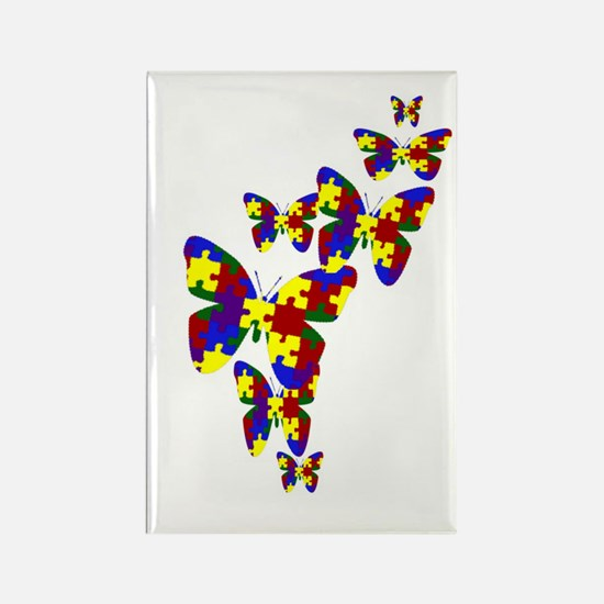 Burst of butterflies Rectangle Magnet