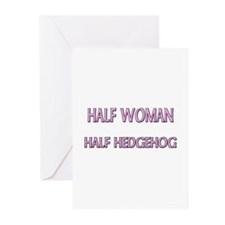 Half Woman Half Hedgehog Greeting Cards (Pk of 10)