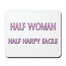 Half Woman Half Harpy Eagle Mousepad