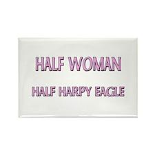 Half Woman Half Harpy Eagle Rectangle Magnet