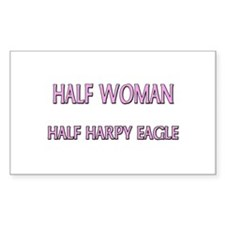 Half Woman Half Harpy Eagle Rectangle Decal