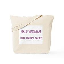 Half Woman Half Harpy Eagle Tote Bag