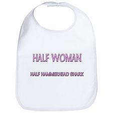 Half Woman Half Hammerhead Shark Bib
