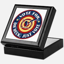 Funny Oh Heck Just Vote Keepsake Box