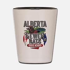Alberta Sewer Rats Go Shot Glass