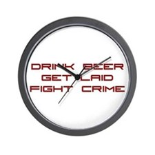 Fight Crime Wall Clock