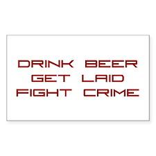 Fight Crime Rectangle Sticker 10 pk)