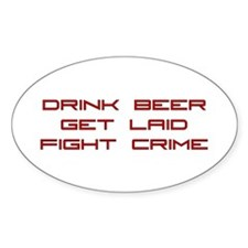 Fight Crime Oval Decal