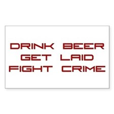 Fight Crime Rectangle Decal