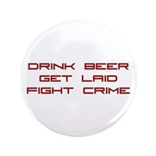 "Fight Crime 3.5"" Button (100 pack)"