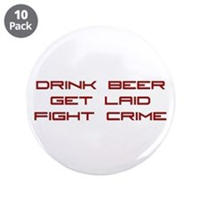 "Fight Crime 3.5"" Button (10 pack)"