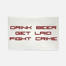 Fight Crime Rectangle Magnet (100 pack)