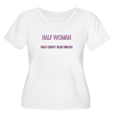 Half Woman Half Great Blue Heron Women's Plus Size