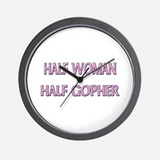 Half Woman Half Gopher Wall Clock