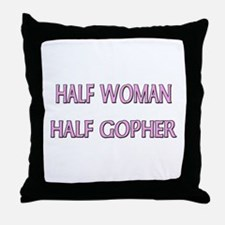 Half Woman Half Gopher Throw Pillow