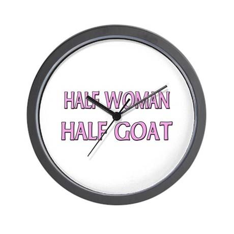 Half Woman Half Goat Wall Clock