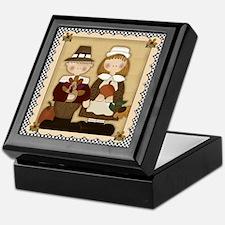 Thanksgiving Pilgrims Keepsake Box