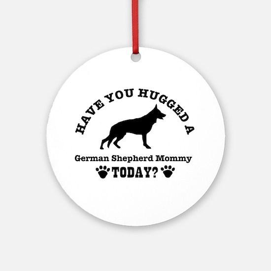 German Shepherd Mommy Ornament (Round)