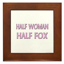 Half Woman Half Fox Framed Tile