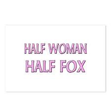 Half Woman Half Fox Postcards (Package of 8)