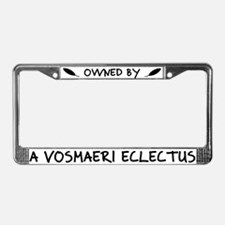 Owned by a Vosmaeri Eclectus License Plate Frame