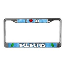 Love Vosmaeri Eclectus License Plate Frame (Male)
