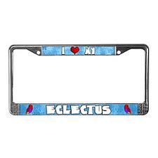 Love Vosmaeri Eclectus License Plate Frame (Hen)