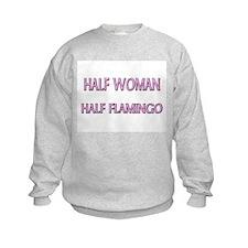 Half Woman Half Flamingo Sweatshirt