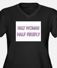 Half Woman Half Firefly Women's Plus Size V-Neck D
