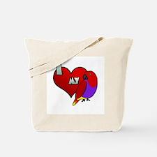 I Love my Vosmaeri Eclectus Tote Bag (Hen)