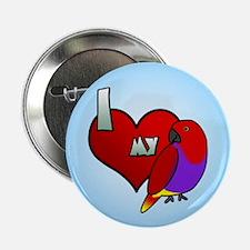 I Love My Vosmaeri Eclectus Button (Hen)
