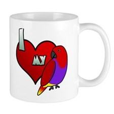 I Love My Vosmaeri Eclectus Mug (Hen)