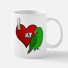 I Love My Vosmaeri Eclectus Mug (Male)