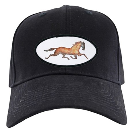 Trotting Horse Black Cap