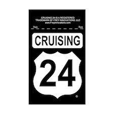 Cruising 24 (Telegraph Rd) Rectangle Decal