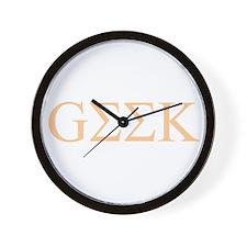 Greek Geek (FL) Wall Clock