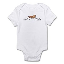 Born to Ride Horses Infant Bodysuit