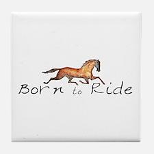 Born to Ride Horses Tile Coaster