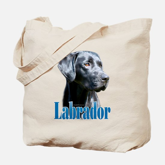 Lab(black) Name Tote Bag