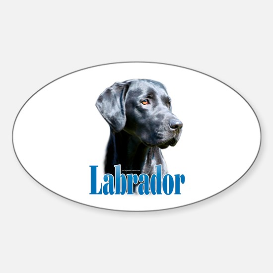 Lab(black) Name Oval Decal