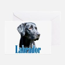 Lab(black) Name Greeting Cards (Pk of 10)