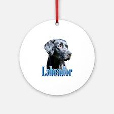 Lab(black) Name Ornament (Round)