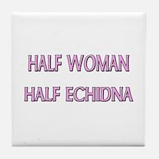 Half Woman Half Echidna Tile Coaster