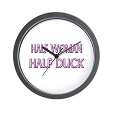 Half Woman Half Duck Wall Clock