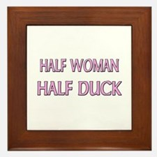 Half Woman Half Duck Framed Tile